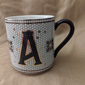 Anthropologie Margot Tiled Coffee Mug Initial A